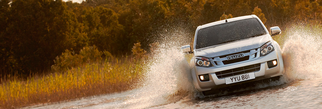 Isuzu D-Max driving through water